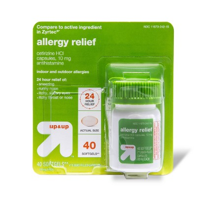 Cetirizine HCL/ Allergy Relief Softgels - 40ct - up & up™