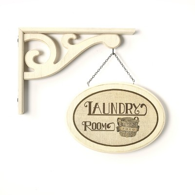 "Lakeside Hanging Wall Sign ""Laundry Room"" with Vintage Style Laundry Room Decor"