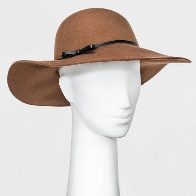 Women's Felt Floppy Hat - A New Day™ Brown One Size