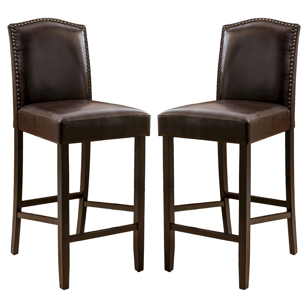 30.5 Logan Barstool - Brown (set of 2), Christopher Knight Home