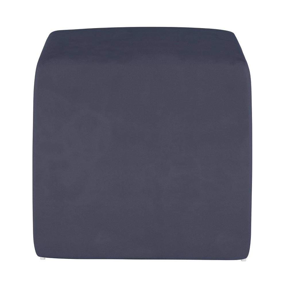 Image of Kids Cube Ottoman Premier Lazuli Blue - Pillowfort