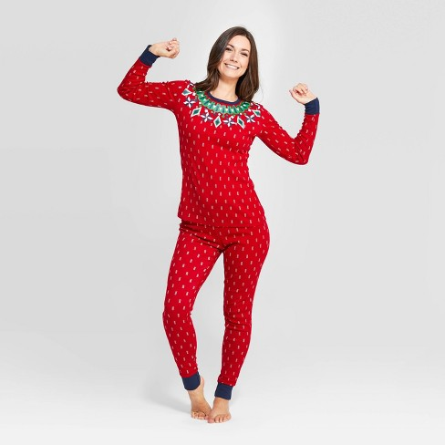 Women's Holiday Fairisle Pajama Set - Wondershop™ Red - image 1 of 3