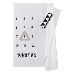 Muslin Blankets with Felt Frame Triangle - Cloud Island™ White/Black