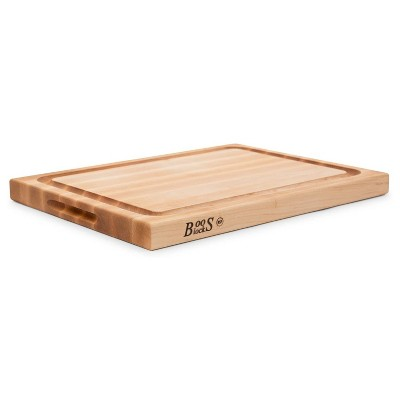 John Boos Block 15 Inch Wide Reversible Cutting/Carving Board with Juice Groove, 20 x 15 x 1.5 Inch, Solid Maple Wood