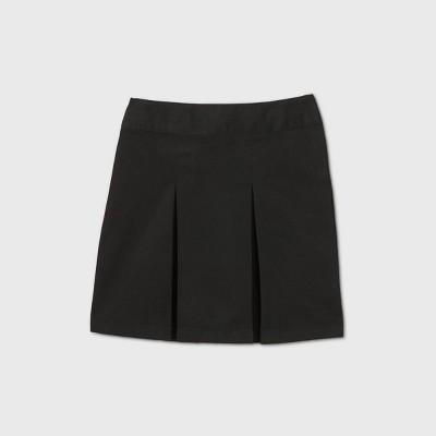 Girls' Stretch Uniform Pleated Twill Skorts - Cat & Jack™ Black