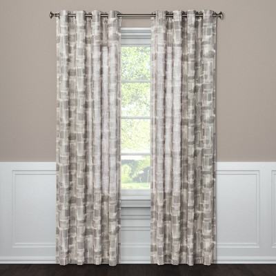 Light Filtering Curtain Panel Brush Stroke Taupe 95  - Project 62™