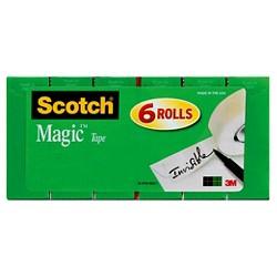 """Scotch 6pk Magic Tape 3/4"""" x 900"""""""