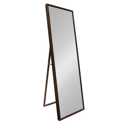 """18""""x58"""" Evans Free Standing Floor Mirror with Easel Walnut - Kate and Laurel"""