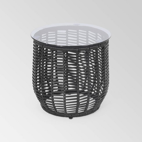 Boynton Wicker Side Table - Christopher Knight Home - image 1 of 4