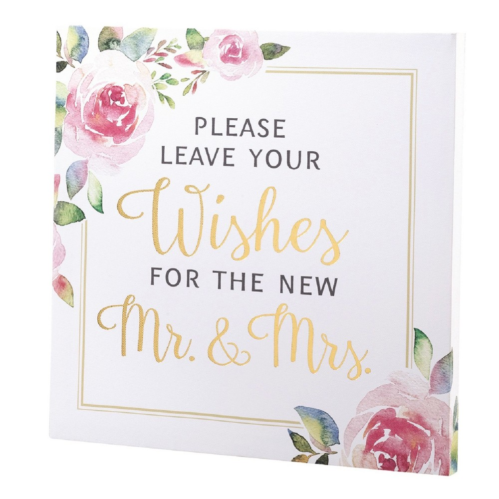 Lillian Rose Wedding Wishes Sign, Multi-Colored