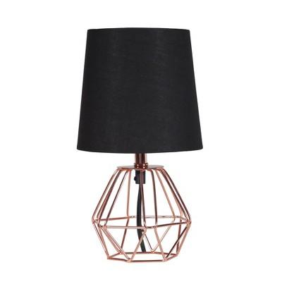 Wesley Geometric Metal Lamp Black (Lamp Only)- Ore International