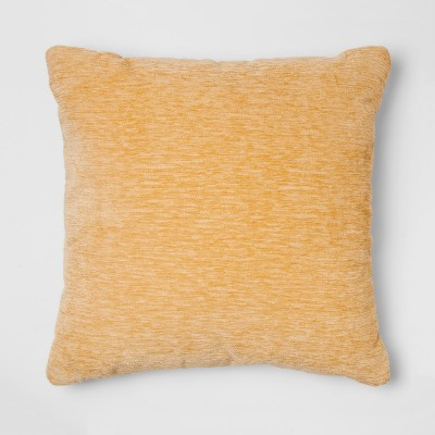 Yellow Chenille Square Throw Pillow - Threshold™