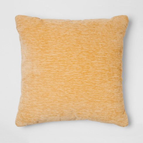 Chenille Square Throw Pillow Yellow Threshold Target