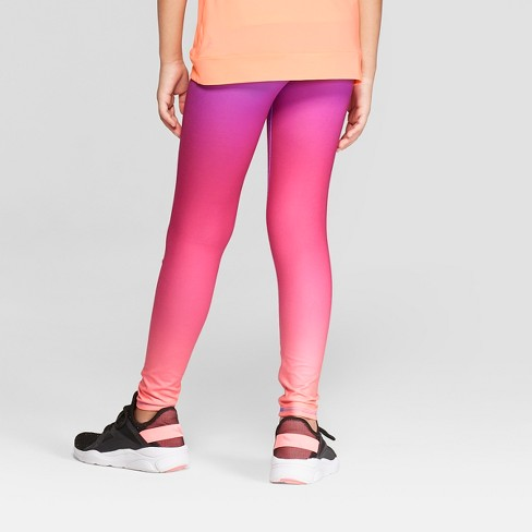 85a44798c97d0 Girls' Sunset Ombre Printed Performance Leggings - C9 Champion® Pink ...
