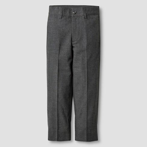 Boys' Suit Pants - Cat & Jack™ Gray - image 1 of 3