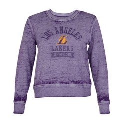 NBA Los Angeles Lakers Women's Retro Sport Burnout Crew Neck Sweatshirt