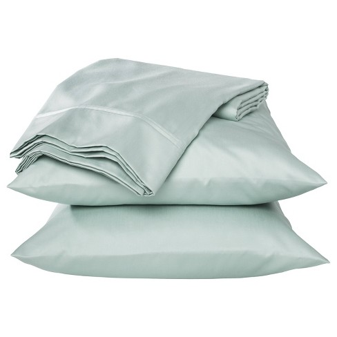 King Performance 400 Thread Count Sheet Set Mint Ash - Threshold™ - image 1 of 1