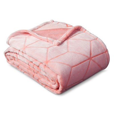 Micromink Plush Blanket (Twin)Georgia Peach - Room Essentials™