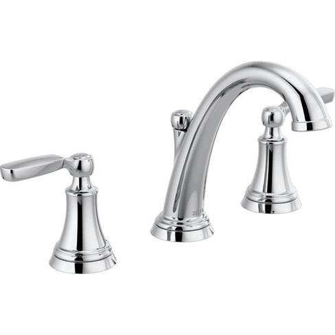Delta Bathroom Faucets.Delta Faucet 3532lf Mpu Woodhurst 1 2 Gpm Widespread Bathroom