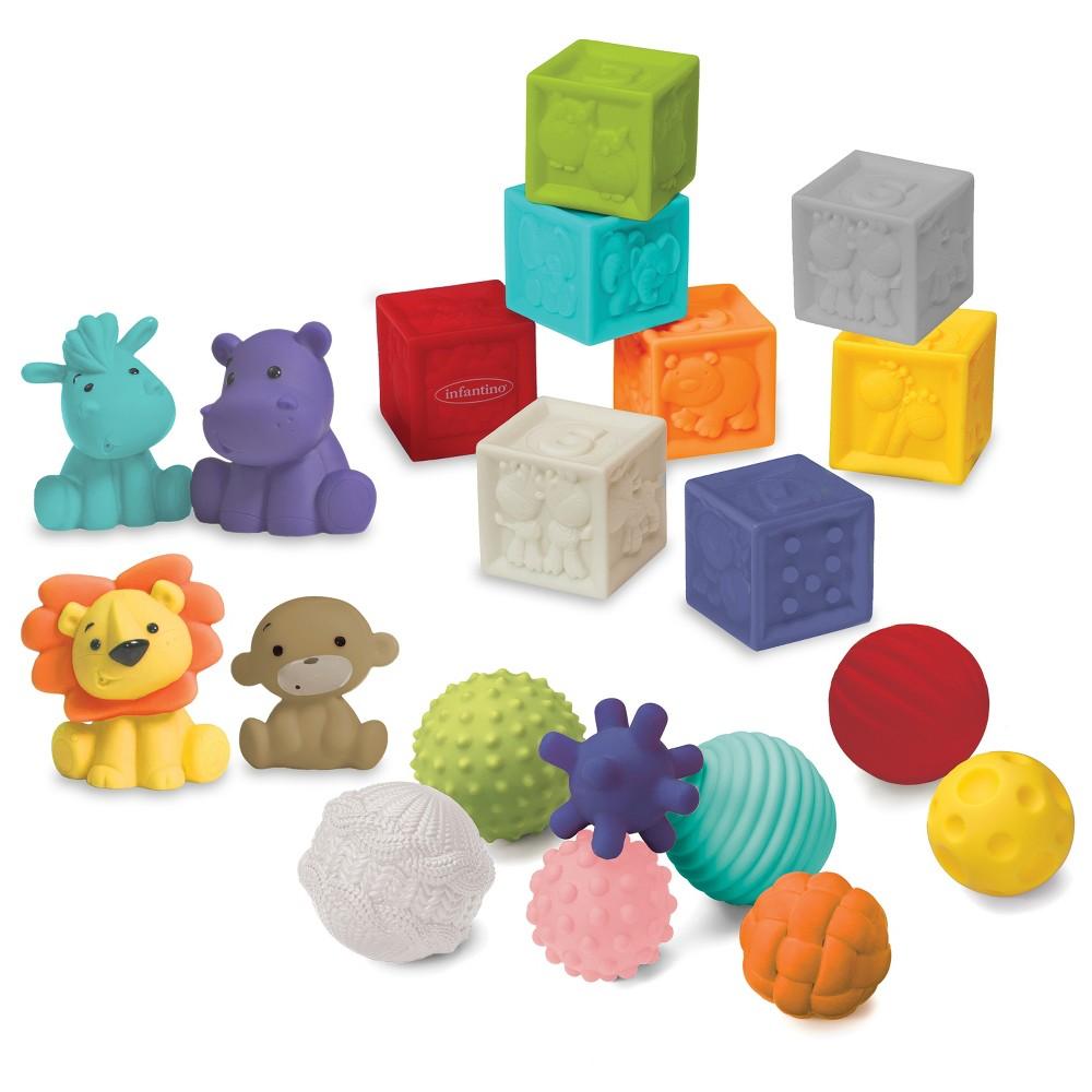 Image of Infantino Gaga Balls, Blocks & Buddies - 20pc