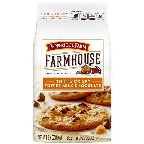 Pepperidge Farm Farmhouse® Thin & Crispy Toffee Milk Chocolate Cookies, 6.9oz Bag - image 1 of 6