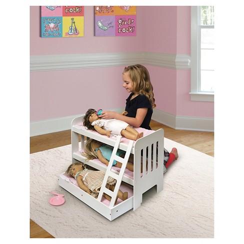 Badger Basket Trundle Doll Bunk Bed With Ladder Target