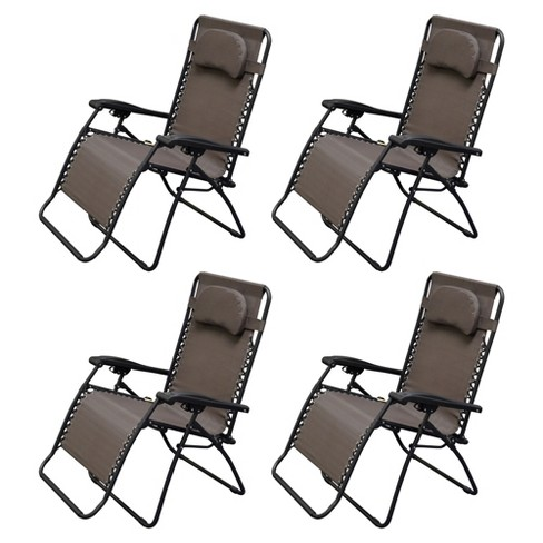 Caravan Canopy Infinity Zero Gravity Steel Frame Oversized Patio Chair 4 Pack Target