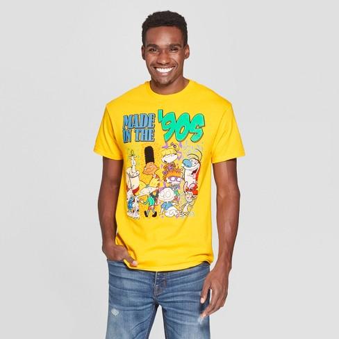Men's Short Sleeve Nickelodeon Crew T-Shirt - Sunflower XL - image 1 of 2