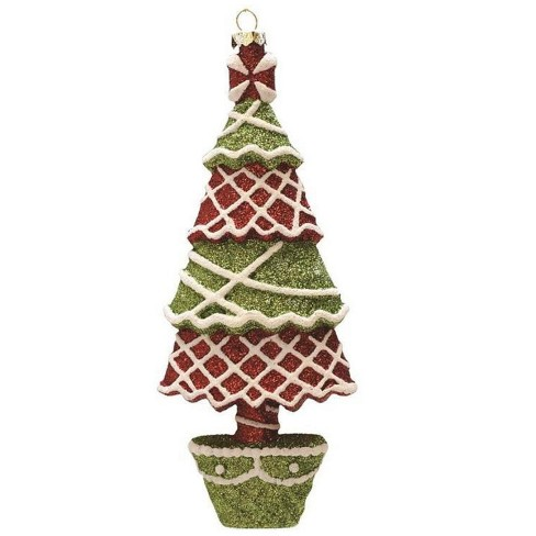 """Northlight 7"""" Merry & Bright Red, Green and White Glitter Shatterproof Christmas Tree Ornament - image 1 of 1"""