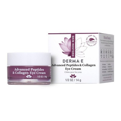 DERMA E Advanced Peptides & Collagen Eye Cream - 0.5oz