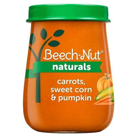 Beech-Nut Naturals Carrots, Sweet Corn & Pumpkin Baby Food Jar - 4oz - image 1 of 4