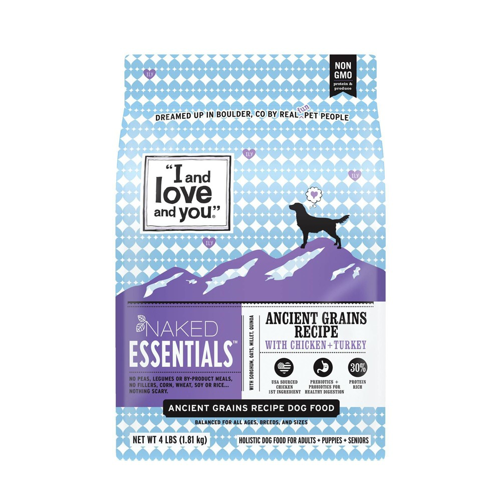 I and Love and You Naked Essentials Ancient Grains with Chicken & Turkey Holistic Dry Dog Food - 4lbs