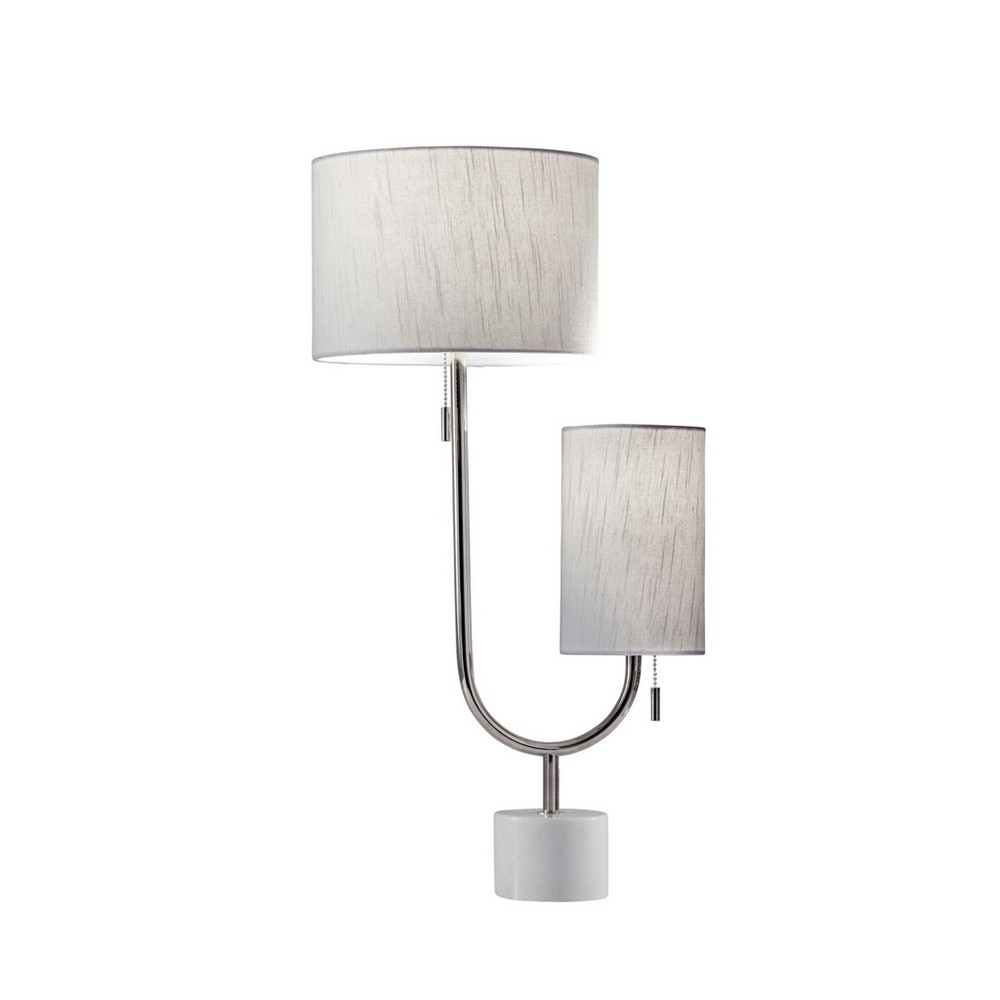 Sloan Table Lamp Medium Silver (Lamp Only) - Adesso