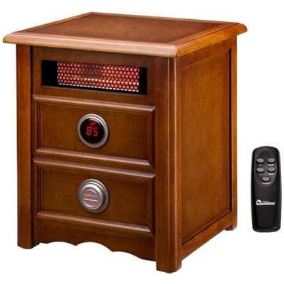 Dr. Heater 1500W Electric Cherry Nightstand Infrared Heater with Remote   DR-999