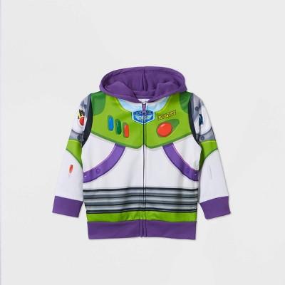 Toddler Boys' Toy Story Buzz Lightyear Hoodie Sweatshirt - White