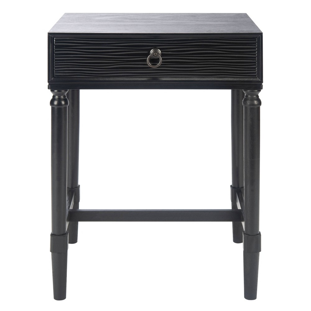 Mabel 1 Drawer Accent Table Black Safavieh