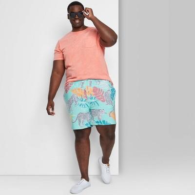 """Men's Big & Tall 7"""" Swim Trunks - Goodfellow & Co™ Soft Aqua"""