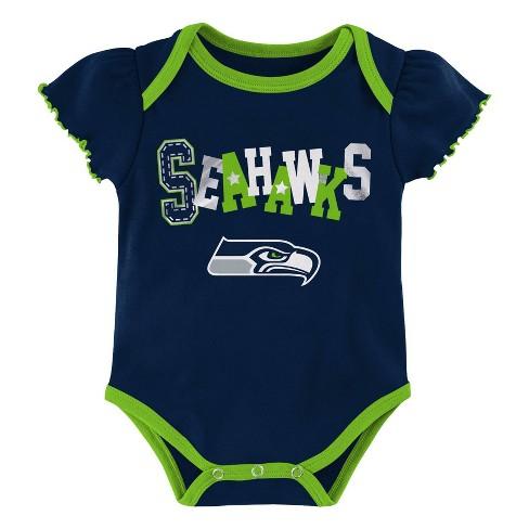 outlet store e0e76 2b18a NFL Seattle Seahawks Baby Girls' Newest Fan 3pk Bodysuit Set