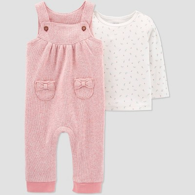 Baby Girls' Floral Top & Bottom Set - Just One You® made by carter's Pink 6M