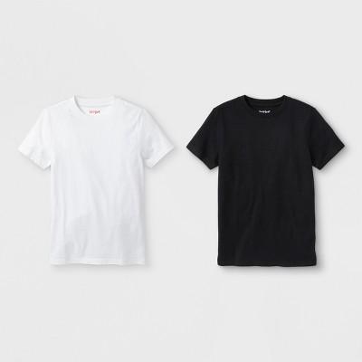 Boys' 2pk Short Sleeve T-Shirt - Cat & Jack™ White/Black