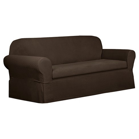 Chocolate Torie Sofa Slipcover (2 Piece) - Maytex - image 1 of 3