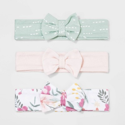 Baby Girls' 3pk Meadow Hairband - Cloud Island™ Pink 0-6M