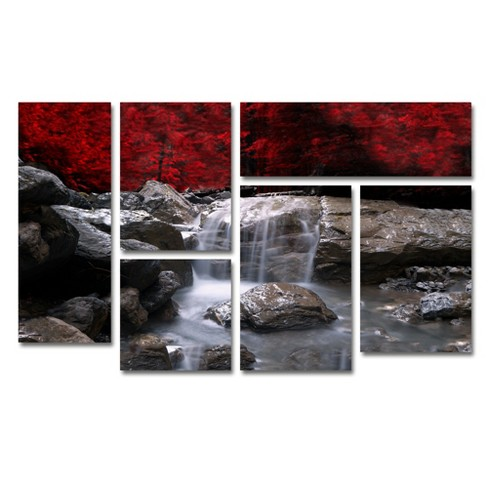 'Red Vison' by Philippe Sainte-Laudy Ready to Hang Multi Panel Art Set - image 1 of 3