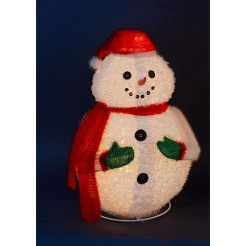 "PENN 24"" Lighted 3-D Jolly Winter Snowman Collapsible Outdoor Christmas Decoration - image 1 of 1"