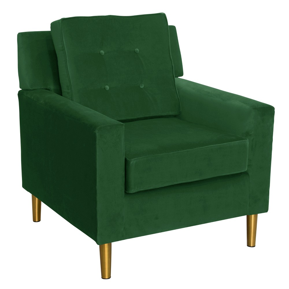 Parkview Chair With Metal Legs Fauxmo Emerald Skyline Furniture