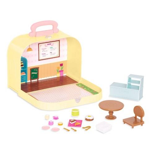 Li'l Woodzeez Toy Furniture Set in Carry Case 20pc - Travel Suitcase Pastry Shop Playset - image 1 of 4