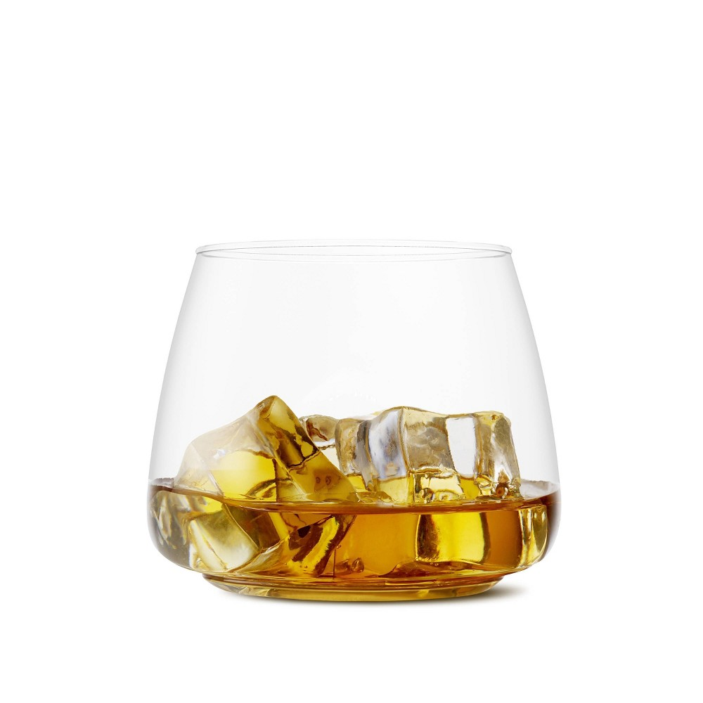 Image of 12oz Set of 12 Rocks Plastic Cocktail and Whiskey Glasses Clear - TOSSWARE