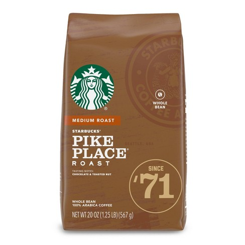 Starbucks Pike Place Medium Roast Whole Bean Coffee - 20oz - image 1 of 4