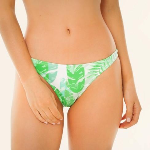 Women's Cheeky Bikini Bottom - Sugar Coast by Lolli Palm Print - image 1 of 4