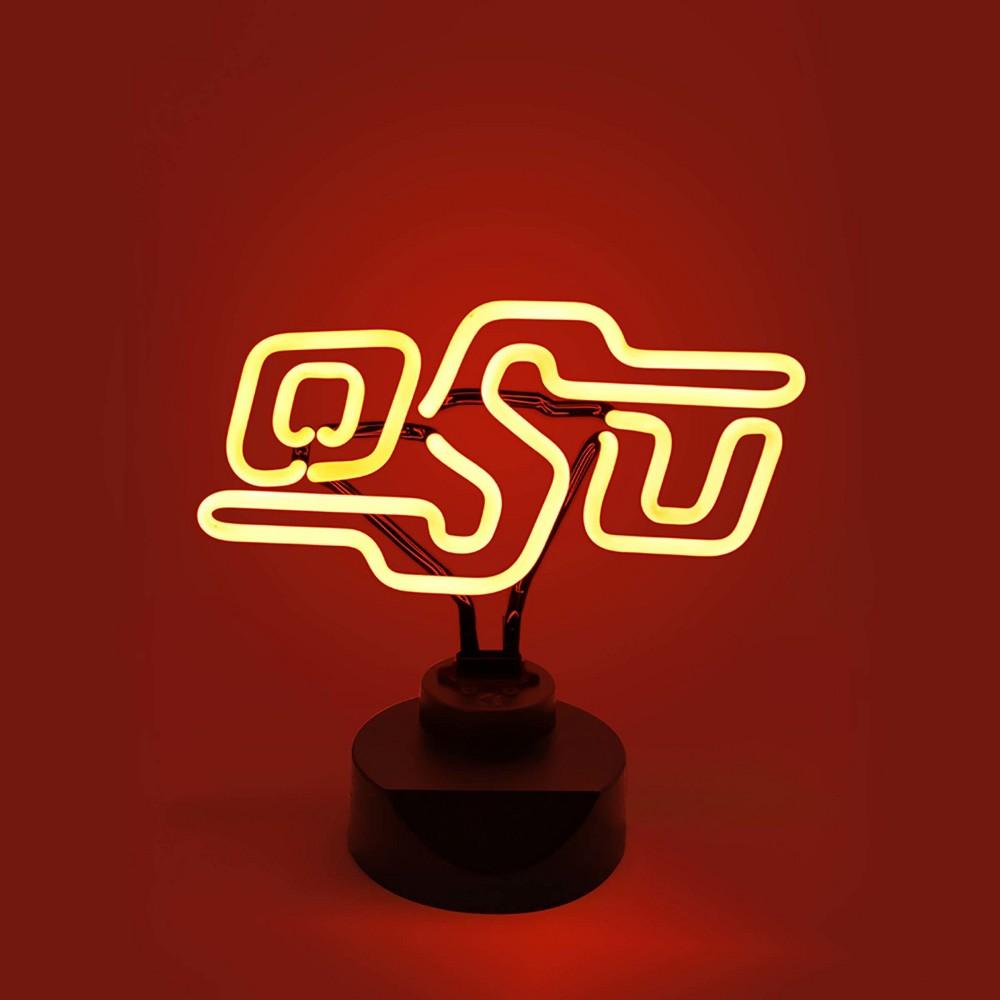 NCAA Oklahoma State Cowboys Table Top Neon Logo Light